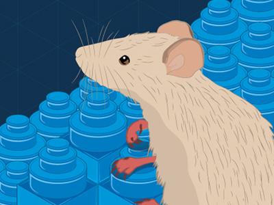 I don't know mouse illustration brick