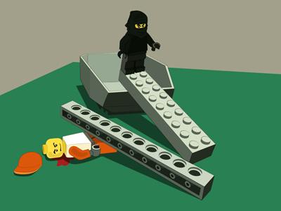 Lego Ninja Attack illustration
