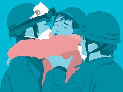 Japan Earthquake illustration
