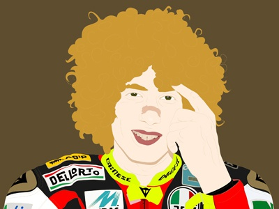 Marco Simoncelli illustration