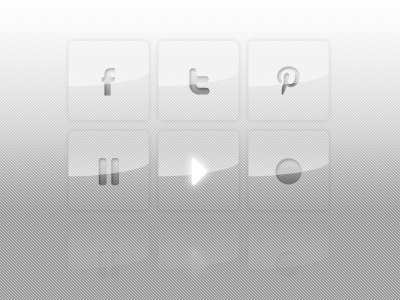 Crystal Buttons interface buttons