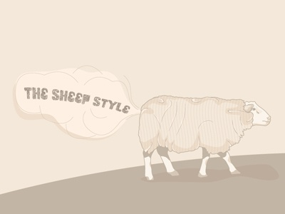 Sheep illustration design