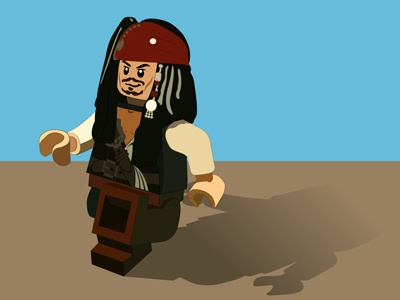 Lego Jack Sparrow illustration design