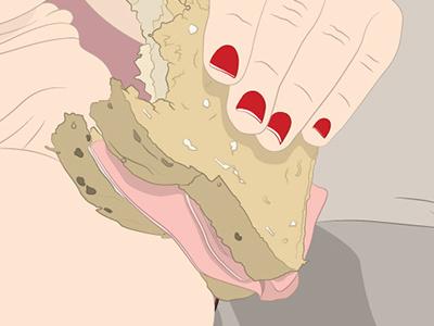 Sandwich (CloseUp) illustration design print canvas