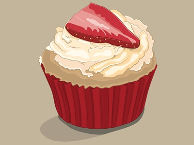 Cupcake illustration design print canvas