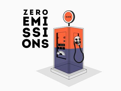 Car Emissions pollution air clean ecology emission transport art vector gas station mask gas car design illustration