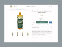 Minimal product page design