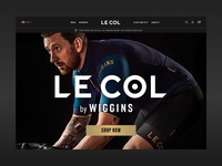 Le Col Navigation homepage sport wiggins lecol cyclewear cycle design minimal e-commerce shopify