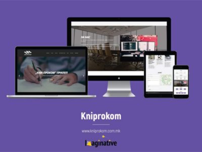 Web Design and Development - Kniprokom.com.mk | Imaginative