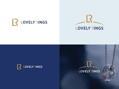 Lovely Rings. Logotype for jewelry online shop. corporate branding corporate design identity logotype illustration icon vector typography design branding logo graphic design