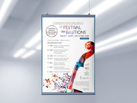 Poster for music festival typography vector illustration poster design music festival poster graphic design design