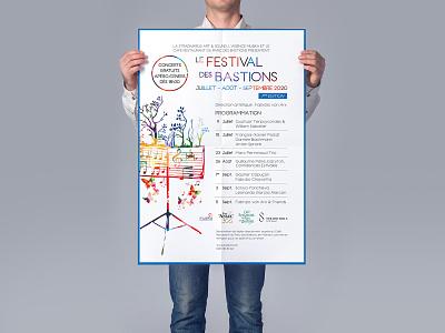Poster for music festival branding typography vector illustration festival music print design print graphic design design poster design poster