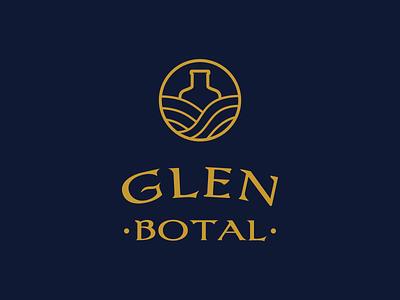 GlenBotal logo logo design logodesign logotype bottal glen whiskey whisky vector typography illustration branding logo graphic design design