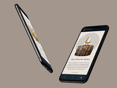 GlenBotal Mobile Website 🥃📱 whiskey whisky mockup digital web design ui design motion animation ux ui design iphone mobile application mobile design mobile