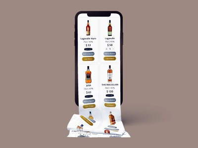 Mobile version of a whisky shop 🥃 whiskey whisky digital digital production user experience mobile design mobile ui mobile design ui design ux ui animation graphic design