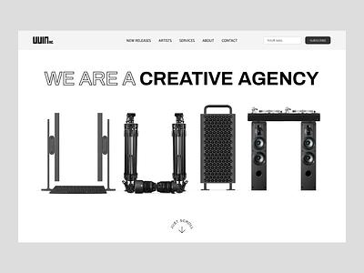 UUIN. We are a creative agency. landing page landingpage digital branding identity ui design ux design web design motion design animation ui graphic design design