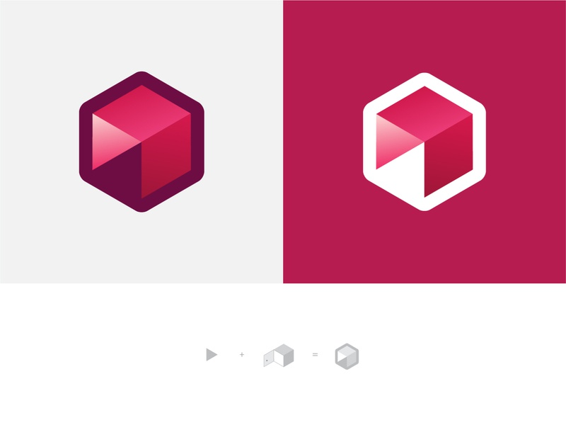 Hexagon Logo Concept pink geometry concept design concept logos design icon sign branding vector illustration graphic design buy for sale button play hexagon logotype logo design logo
