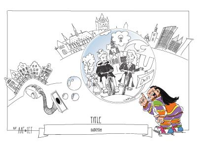 Visualisation of a brainstorm the hague amsterdam cities strategic visualisation brainstorm