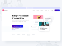 SaaS Landing Page for Idea Sharing Platform