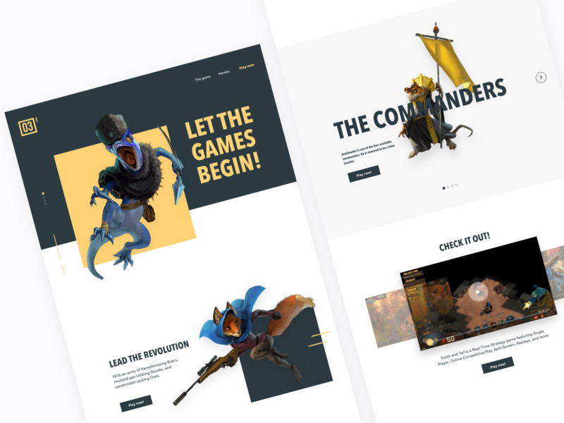 Landing Page videogames game game design game art ui design uiux ux page page layout page design landing page design landingpage landing page landing illustration desktop design ui daily dailyui