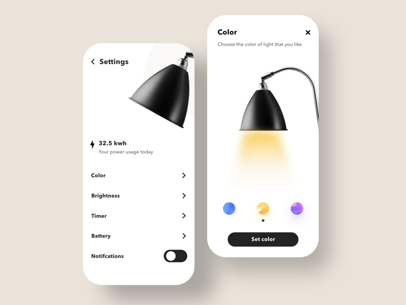 Settings lamp lamps lights daily ui daily designs flat colors ui design minimalistic appweb app ui design ux minimalism minimalist minimal