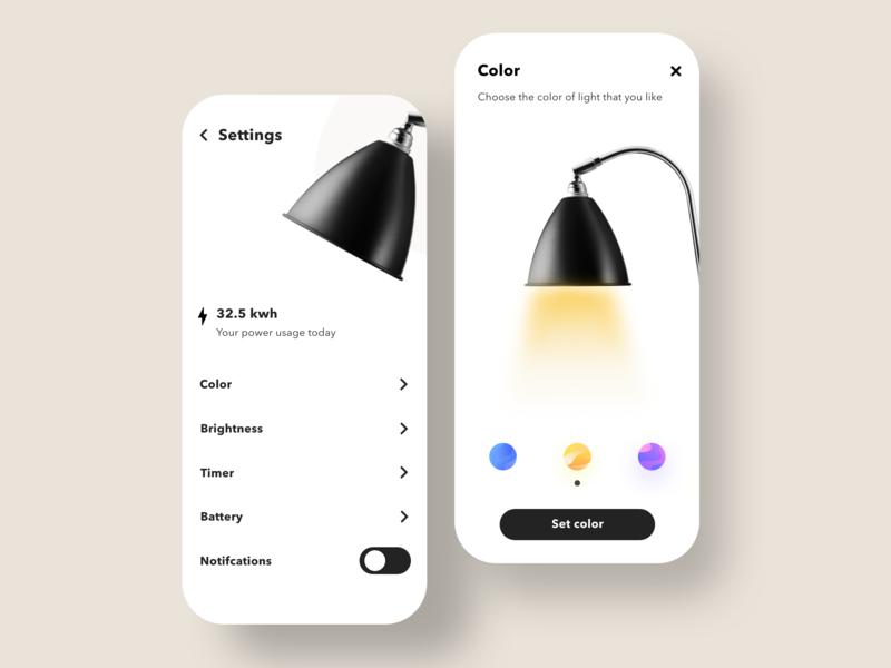 Settings lamp lamps lights daily ui daily designs flat colors ui design minimalistic appweb app ui design ux minimalism minimalist minimal