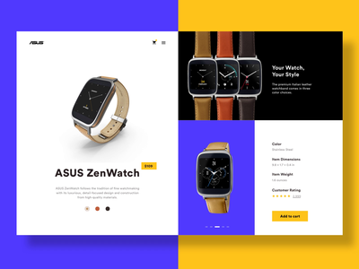 Ecommerce Shop ecommerce design ecommerce webdesign asus watches web color website concept web design website website design user interface desktop watch colors minimalist minimal ui design ui design