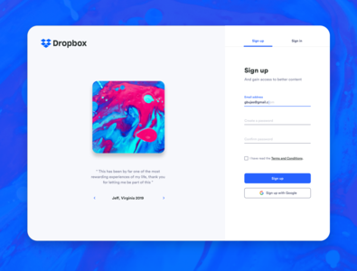 Sign Up color desktop application web  design web app web desktop app desktop design desing sign up page sign up web design desktop daily colors user interface minimal minimalist ui ui design design