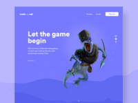 Landing Concept purple game game art desktop design landing landing design landing page web web design desktop colors user interface minimal minimalist ui design ui design