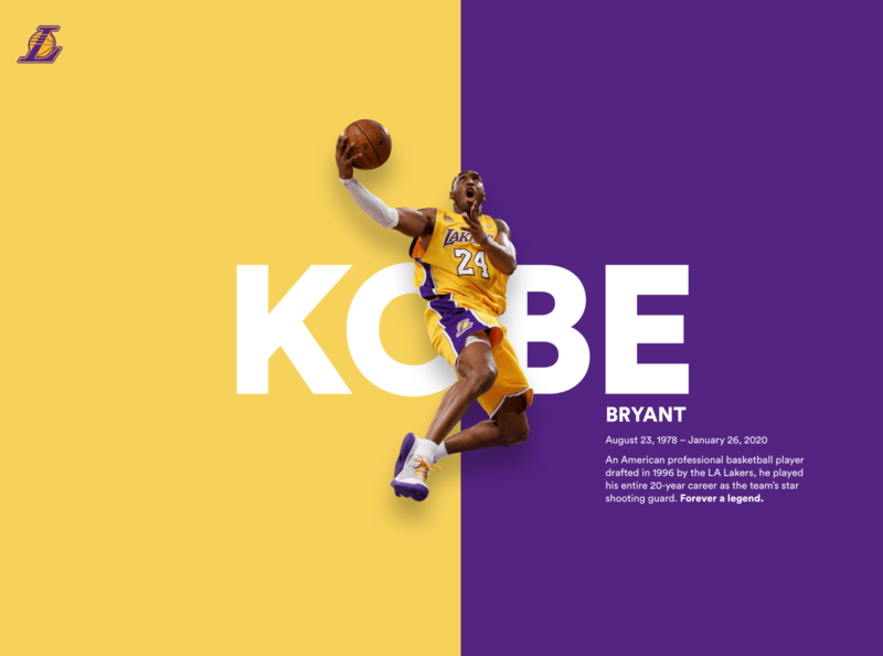 Kobe Bryant Tribute -  Forever a legend los angeles all star basketball tribute lakers poster nba kobe bryant kobe color web web design desktop colors user interface minimal minimalist ui ui design design