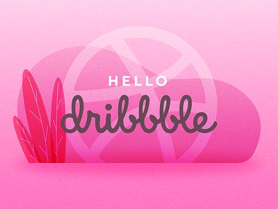 Hello  Dribbble clean ui identity minimal flat icon ux debuts logo vector branding web illustration design