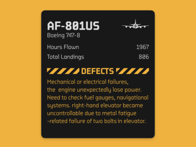 Airplane Info Card