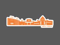 Auburn Skyline Sticker