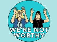 We're not worthy - Lapel Pin