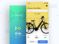 Bi-bo bicycle renting app