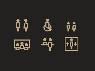 Icons MuMo symbol pictograms museum signalization pictogram icons