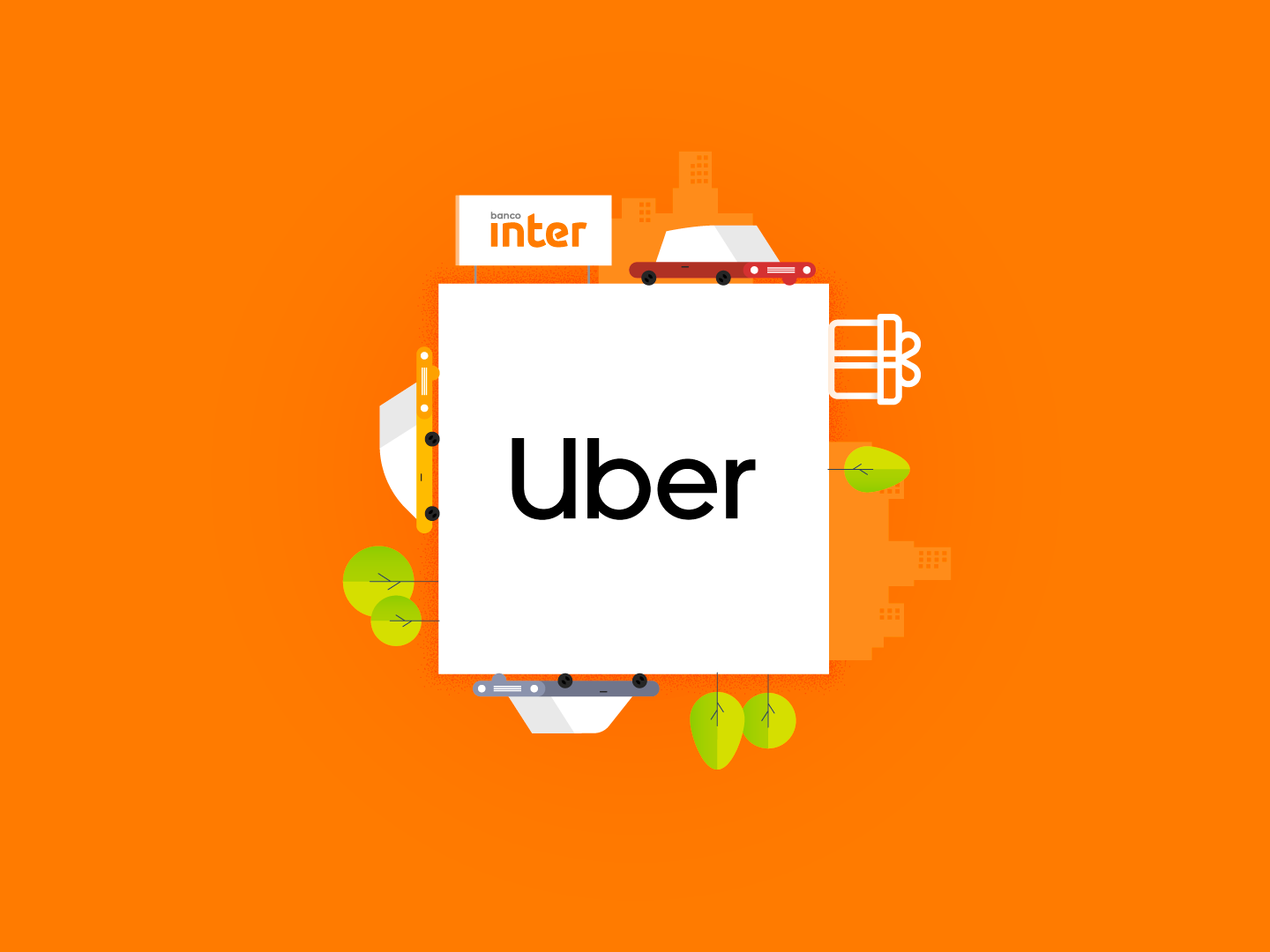 Uber + Banco Inter transport city cars tree giftcard banco inter car uber