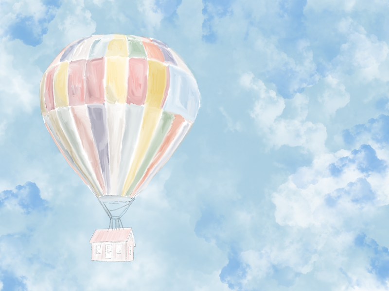 Hot Air Balloons < 1,000s of helium balloons drawing procreate