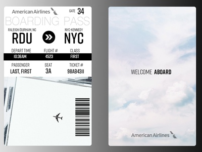 Daily UI Challenge-Boarding Pass