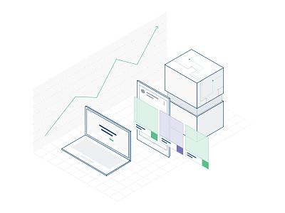 Maximize Ads ROI Illustration data design branding illustration