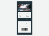 024 UI Daily Challenge - Boarding Pass