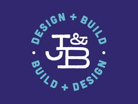 J&B Build and Design design lettering identity blue type mark logo