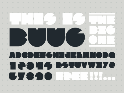 Buug Typeface type free font letter typeface