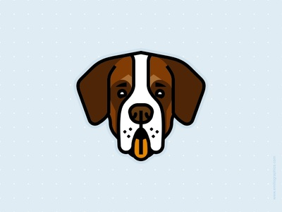 Bernard animal dog logo illustration