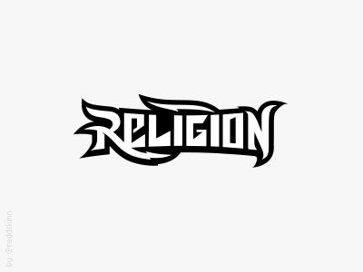Religion lettering type