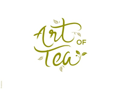 Tea type lettering organic nature leaf