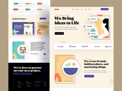 Design for Digital Agency creative agency trendy app clean ui art design abstract design 2020 trend trendy design minimalist design typogaphy color landing page product design ui design ux ui agency branding agency website agency landing page digital agency