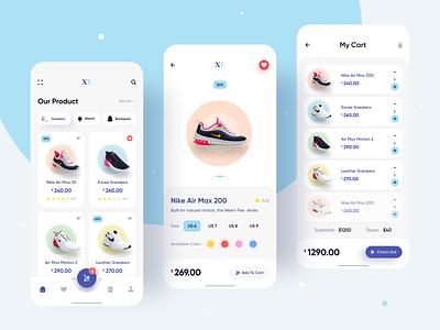 Ecommerce Mobile App design application ui ui design minimalistic ios mobile ui add to cart online shop shop ecommerce app ecommerce mobile app app design app ux ui