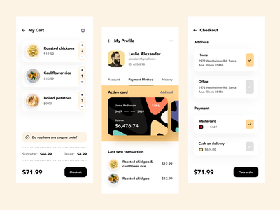 Food Delivery - Mobile App popular shot popular design dribbble best shot clean ui minimal mobile ui food delivery app uiux ui mobile application mobile app design ui design app ios product design user experience food app food ios app mobile app