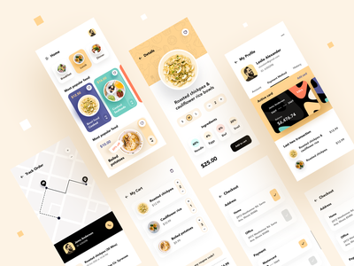 Food Delivery - Mobile App app design clean ui minimal dribbble best shot mobile application application food delivery app food app mobile app design mobile ui app ios ux ui product design user experience food ios app mobile app